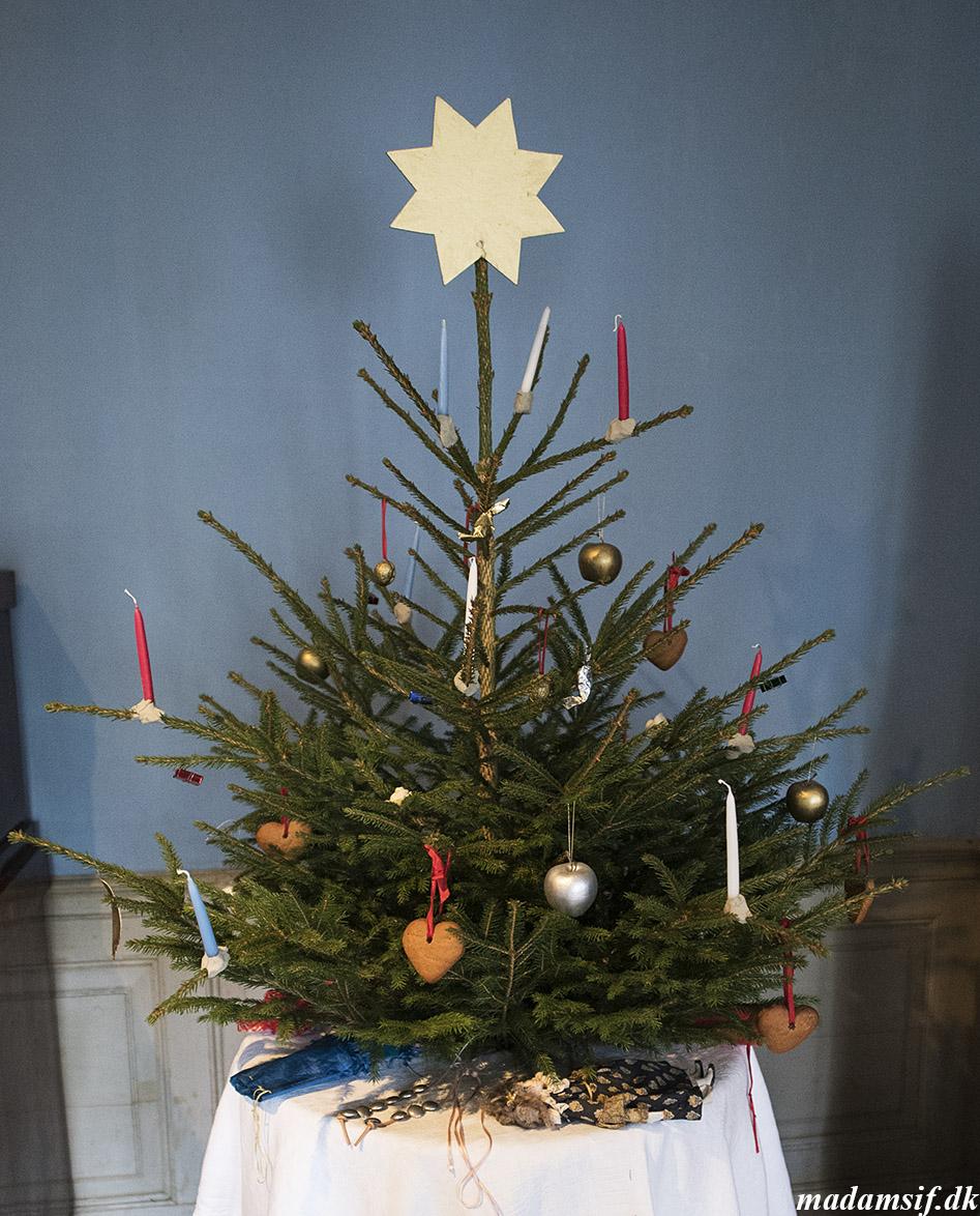 Juletræ i borgmestergården i Den Gamle By