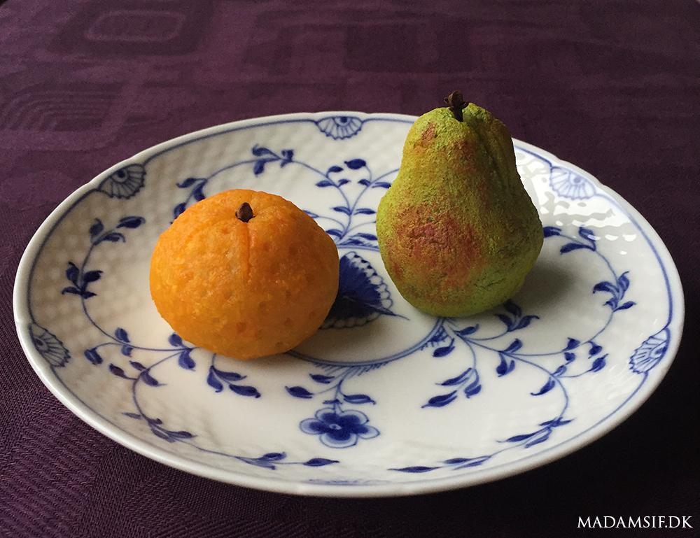 Marcipanfrugt efter opskrift fra det 13- århundredes al-Andalus.