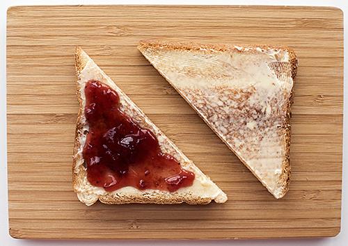 Toast – præcis som jeg husker det fra Londonsk discounthotelmorgenmad.