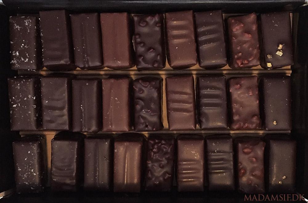 Chokolade fra Alain Ducasse.