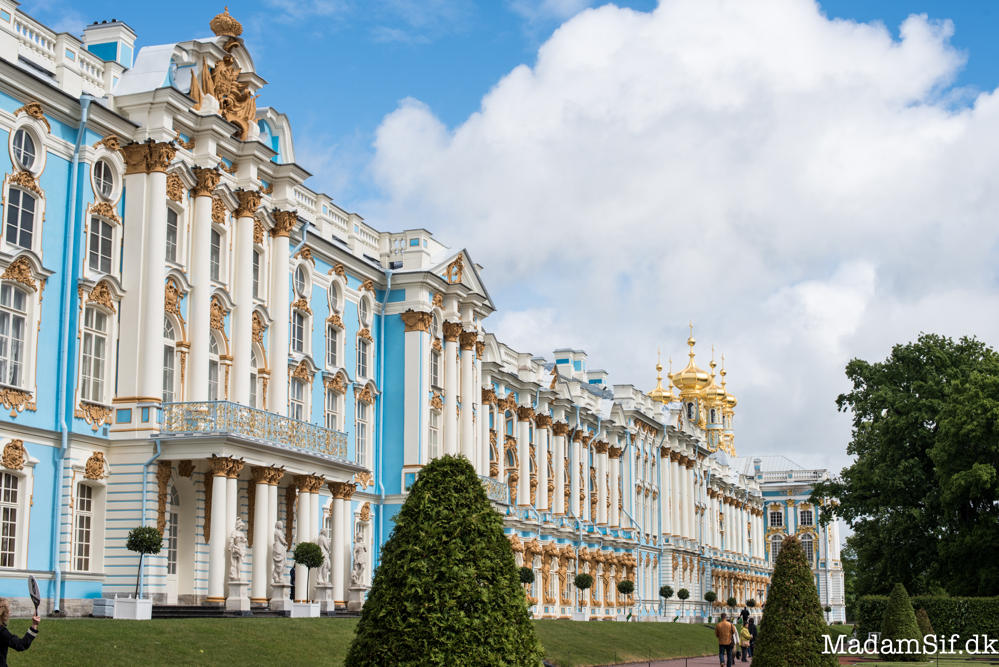 Sommerpaladset i Pushkin, Rusland.