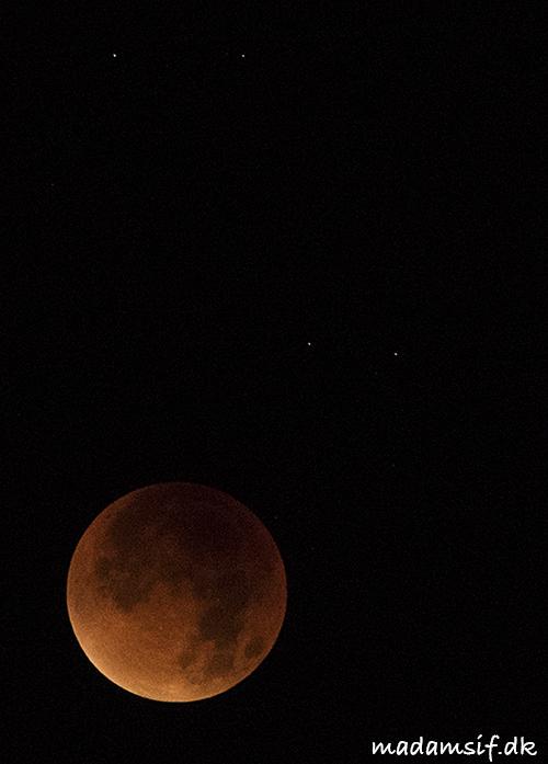 Måneformørkelsen, foreviget med stivfrosne fingre.