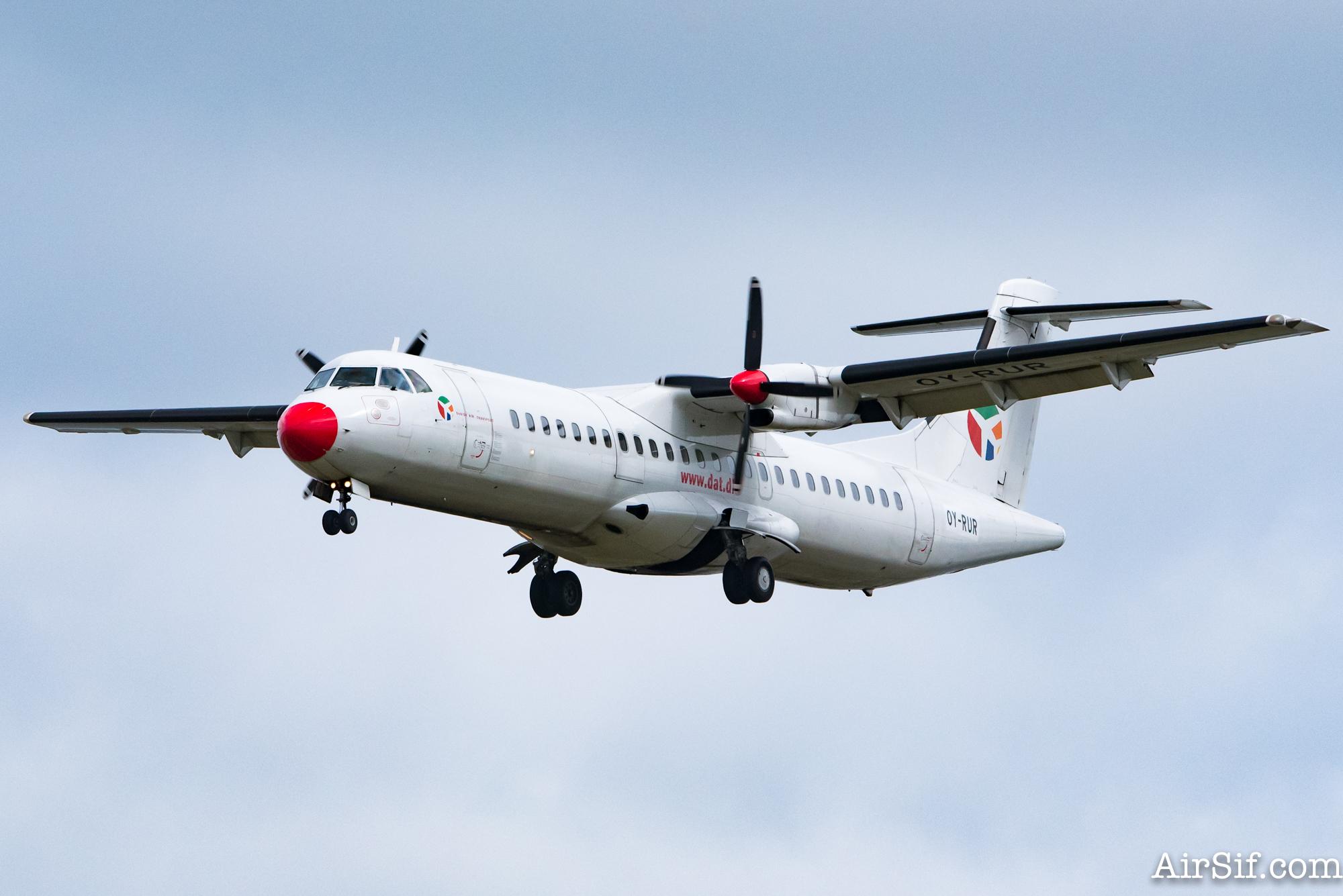 OY-RUR fra Danish Air Transport, knipset i Københavns Lufthavn.