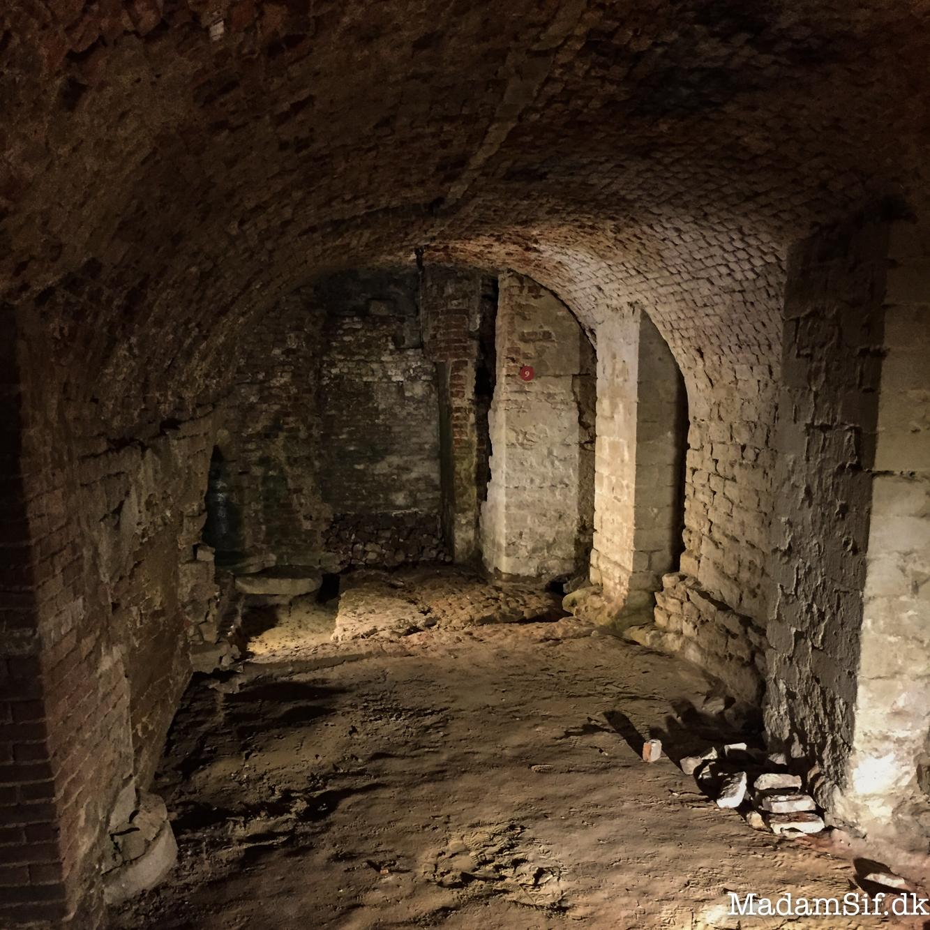 En kælder fra den ældste del af Coudenberg, ca år 1200.